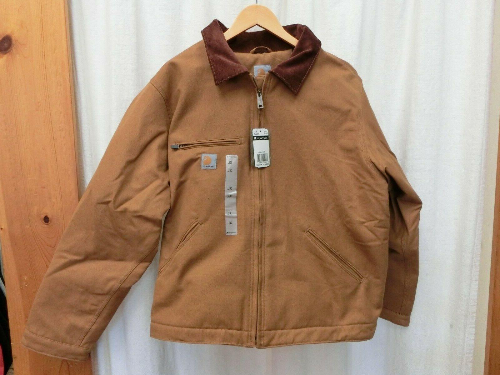 103828 washed duck detroit jacket brown