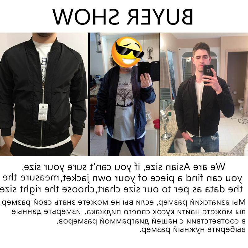 2019 Fashion Slim Ma Zipper Bomber Overcoat Mens Thin <font><b>Jackets</b></font>