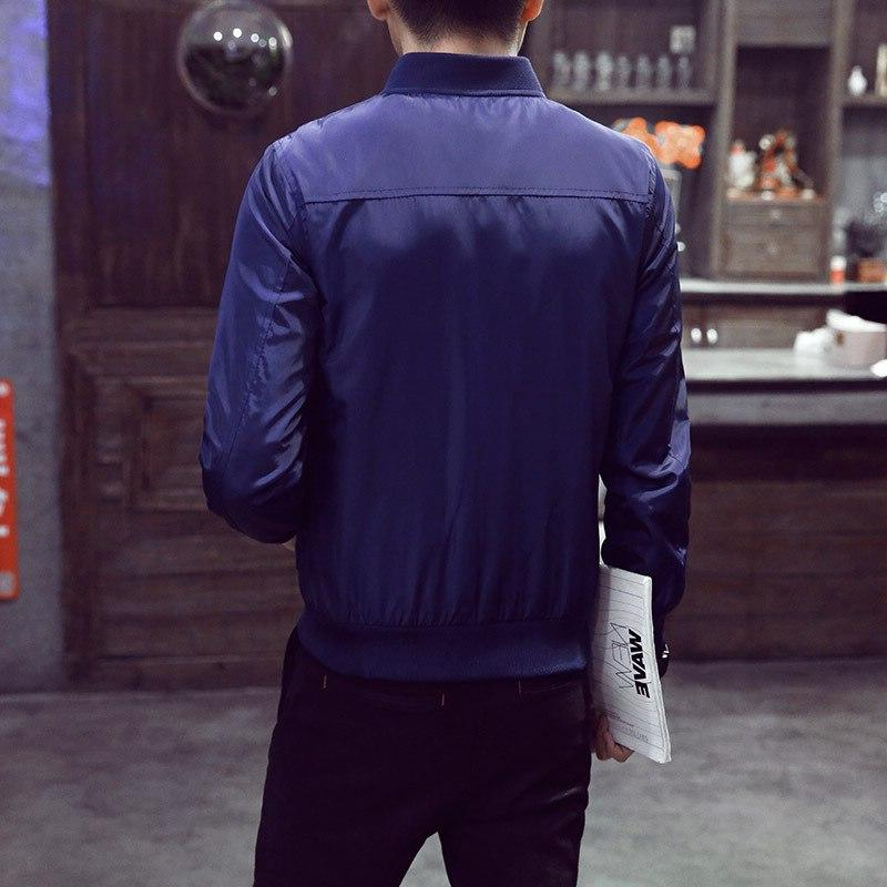 2019 Spring Solid Fashion Slim Ma Zipper Bomber <font><b>Jackets</b></font> Overcoat Mens Thin Pilot <font><b>Jackets</b></font>