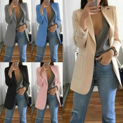 2019Fashion Women Casual Slim Business Blazer Coat Jacket Outwear S-5XL