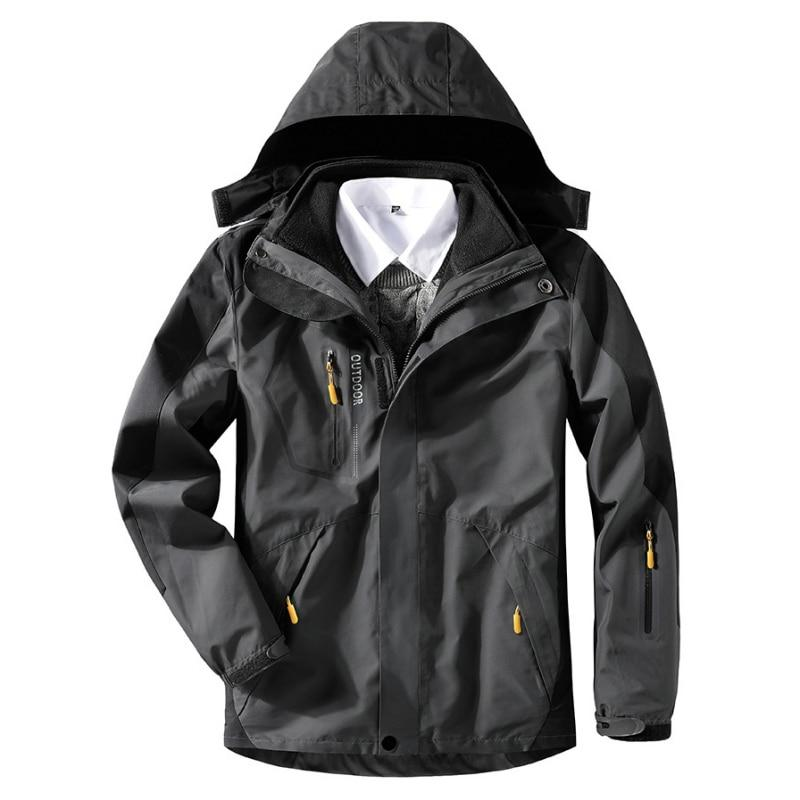 2019 <font><b>Men</b></font> Winter <font><b>3</b></font> Windproof Windbreaker Outdoor Camping Trekking Motorcycle Coat