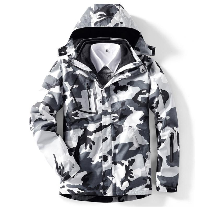 2019 <font><b>Men</b></font> <font><b>3</b></font> <font><b>In</b></font> Windbreaker Outdoor Hiking Trekking <font><b>Jacket</b></font>