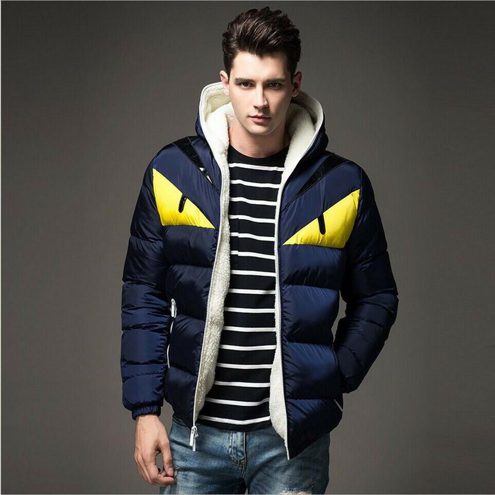 2019 Fendi Monster Eyes Winter Jacket Men Coat Cotton Padded Fashion