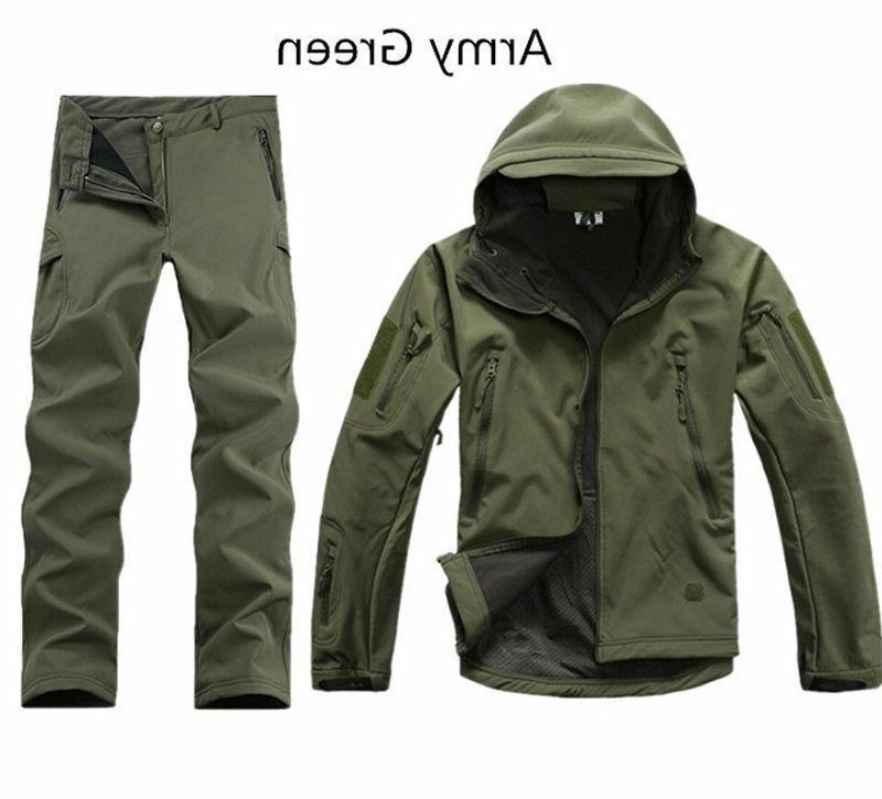 2PCS New Outdoor Winter Hunting +pants Coat Thicken