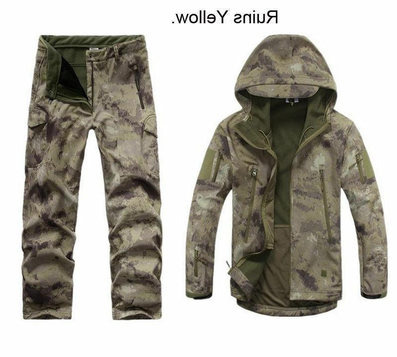 2PCS Outdoor Hunting Mens Jacket +pants Waterproof Coat Thicken