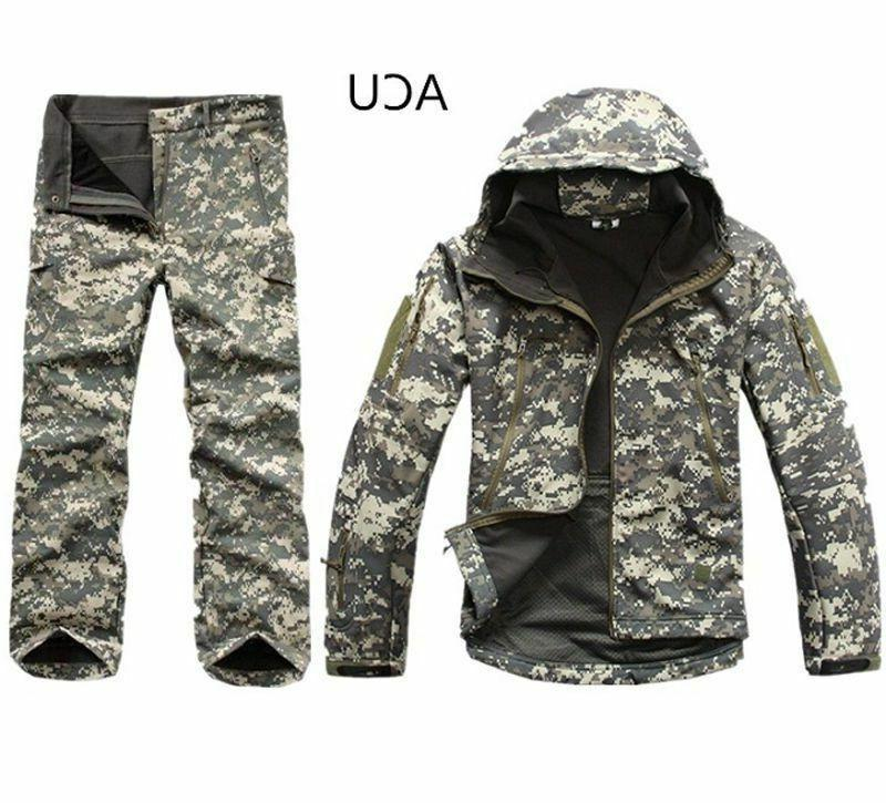 2PCS New Winter Hunting Mens Coat +pants Waterproof Coat Thicken