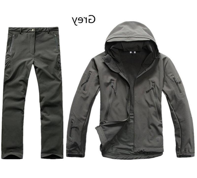 2PCS New Outdoor Hunting Mens Jacket Coat +pants Waterproof Coat