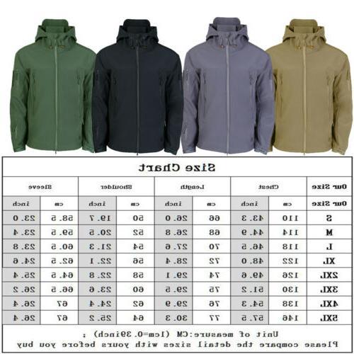 3 in1 Waterproof Tactical Soft Men's Jacket Coat