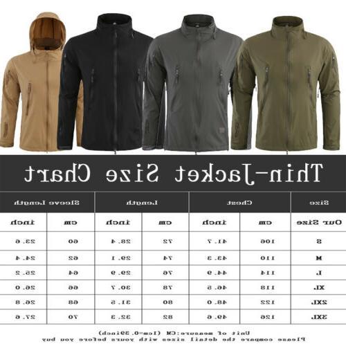 3 in1 Waterproof Soft Shell Coat Army