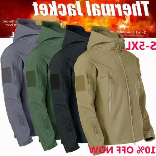 3 in1 waterproof tactical soft shell men