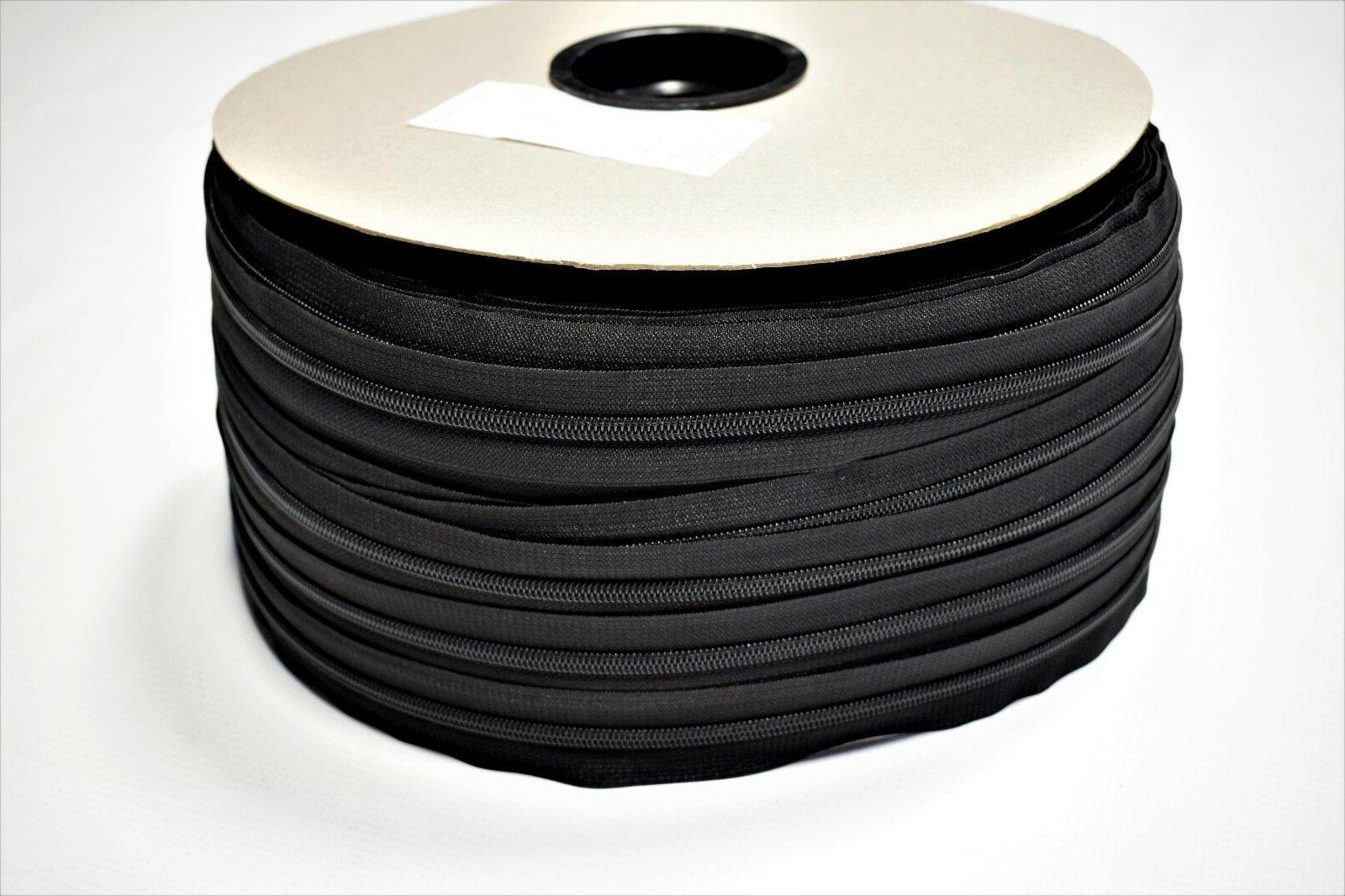 #5 Black Zipper Chain Cloth Apparel Jackets Heavy Duty
