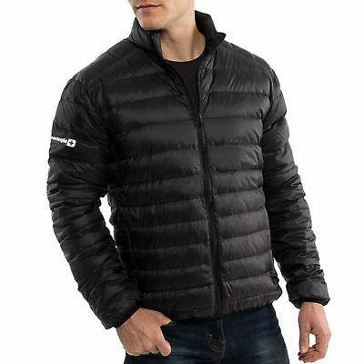 Alpine Swiss Niko Packable Light Mens Down Jacket Puffer Bub