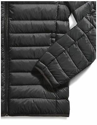 Amazon Essentials Men's Water-Resistant Packable Jacket Black