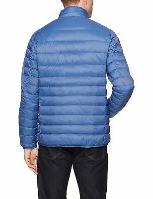 Amazon Essentials Lightweight Water-Resistant Packable Jacket Blue