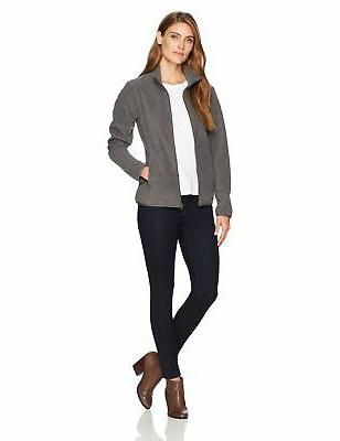 Amazon Essentials Women's Full-Zip Polar Heather