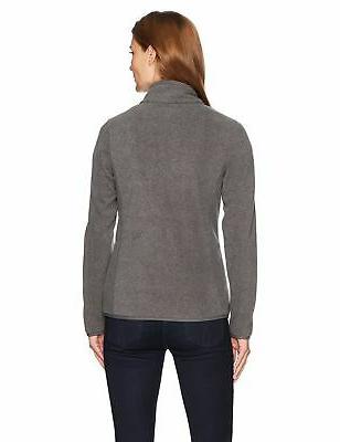 Amazon Full-Zip Polar Fleece Charcoal Heather Medium
