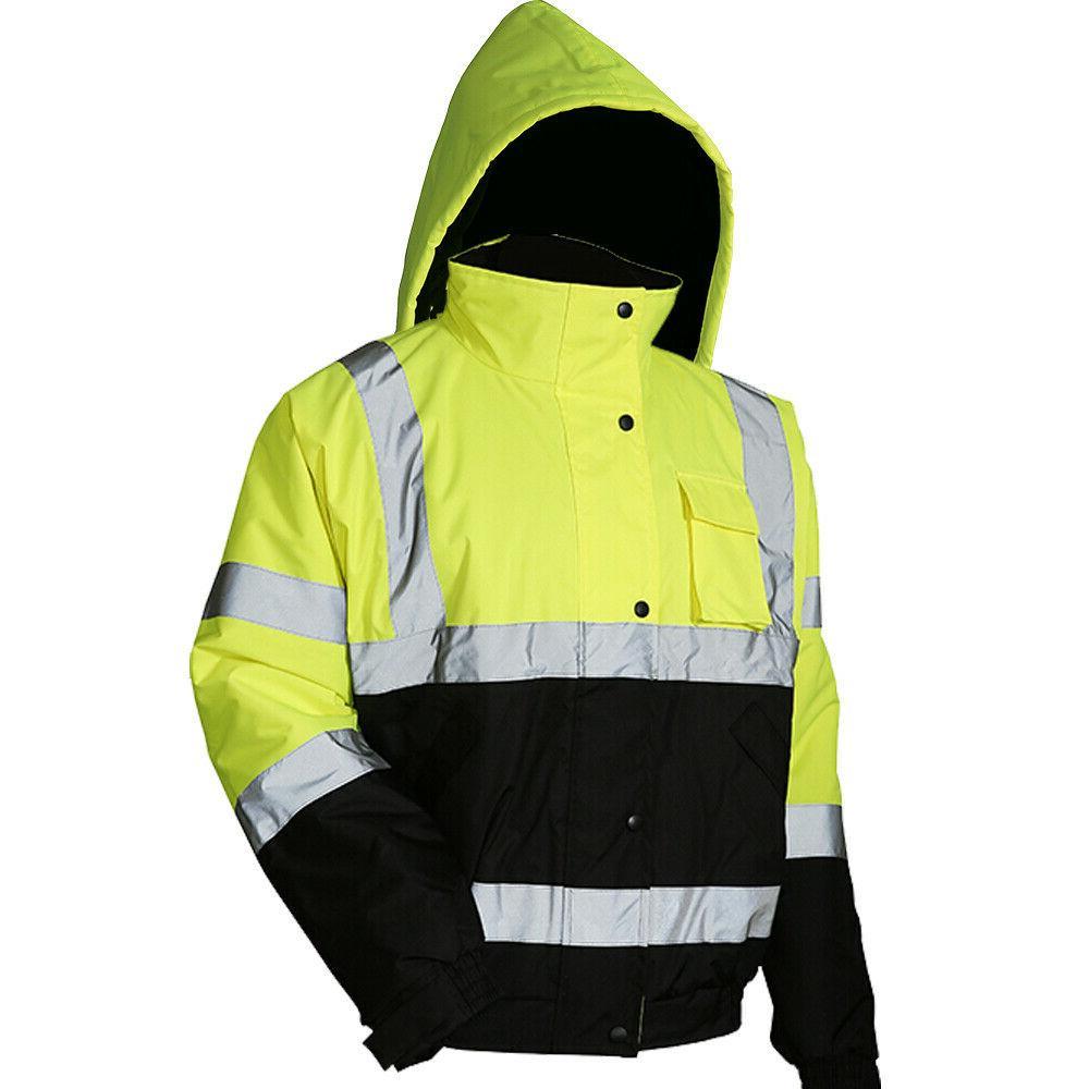 Hi-Vis Safety Reflective Coat Work Fleece