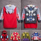 Kids Boys Halloween Party Superhero Cosplay Costumes Hooded