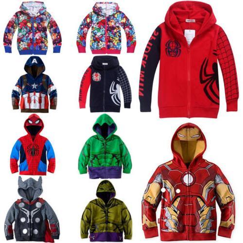 Kids Boys Superhero Cosplay Hoodie Coat Toddler Clothes Jack