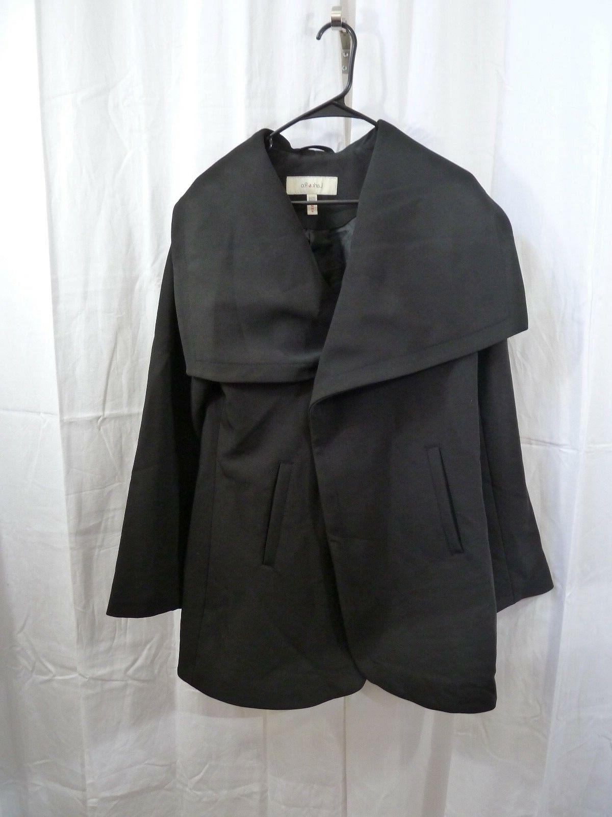 Lark & Ro Women's Single Button Jacket Black Size Medium