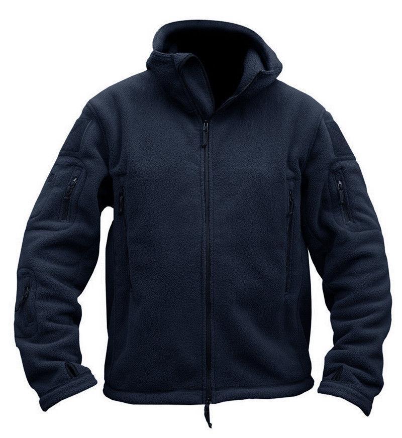 Mens Fleece Jackets Outdoor Winter Coats Army Casual