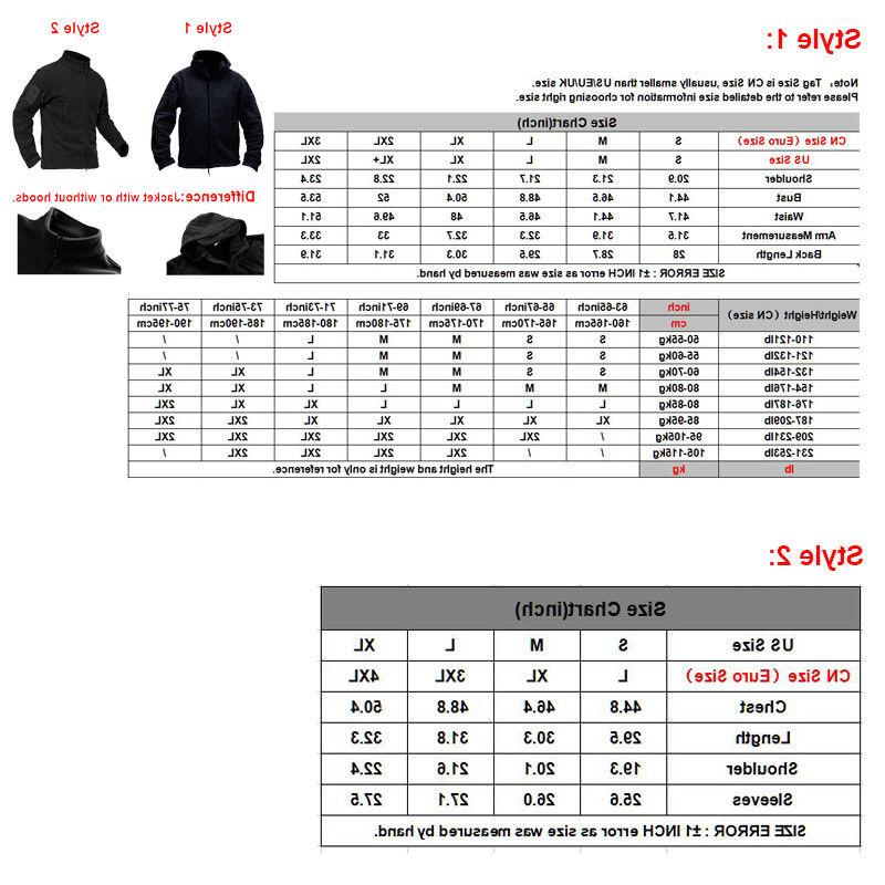 Mens Fleece Jackets Military Outdoor Army
