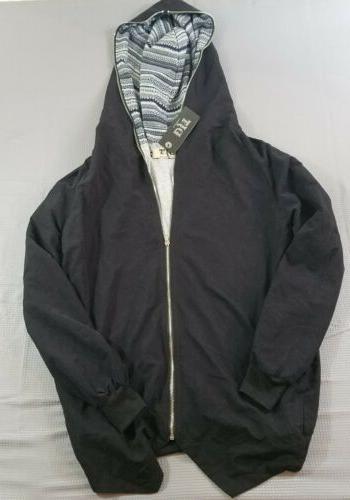 NWT DJT Fashion Women's Size Medium Oblique Zipper Asymmetri