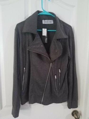 NWT Tom's Ware Men's Trendy Asymmetrical Zip Hoodie Jacket F