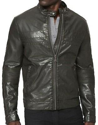 New EXPRESS Men's Faux Leather Moto Coat, NWT【XL】【$200】*LAST