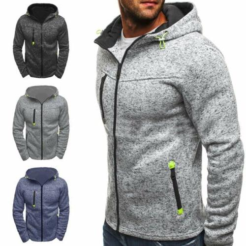 New Men's Winter Slim Hoodie Warm Hooded Sweatshirt Coat Jac
