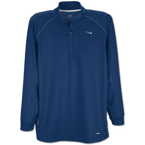 Nike Long Sleeve Dri-Fit Training Top, Navy Blue, Small