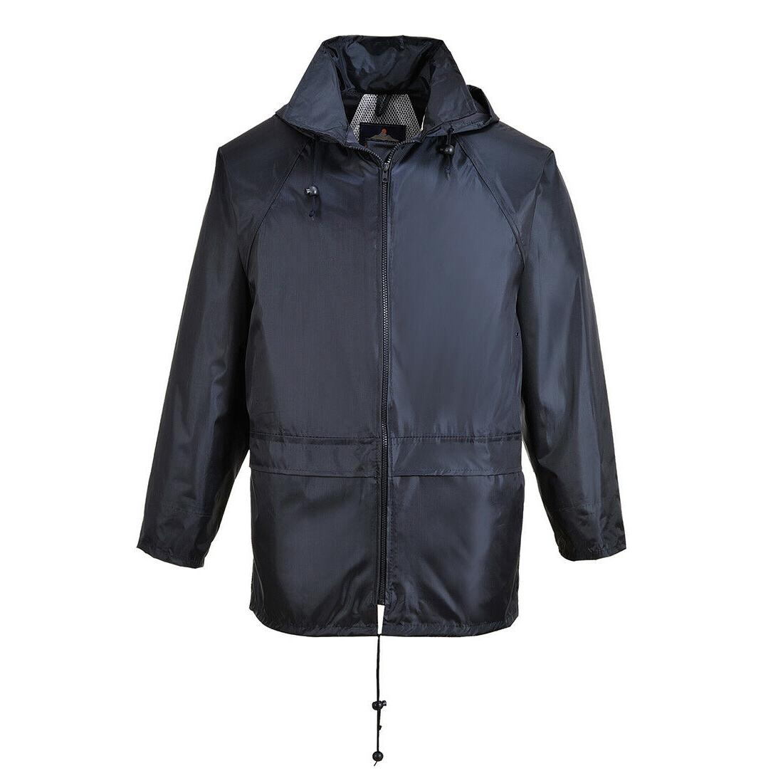 Portwest Classic Rain Jacket wth Away Hood & Seams