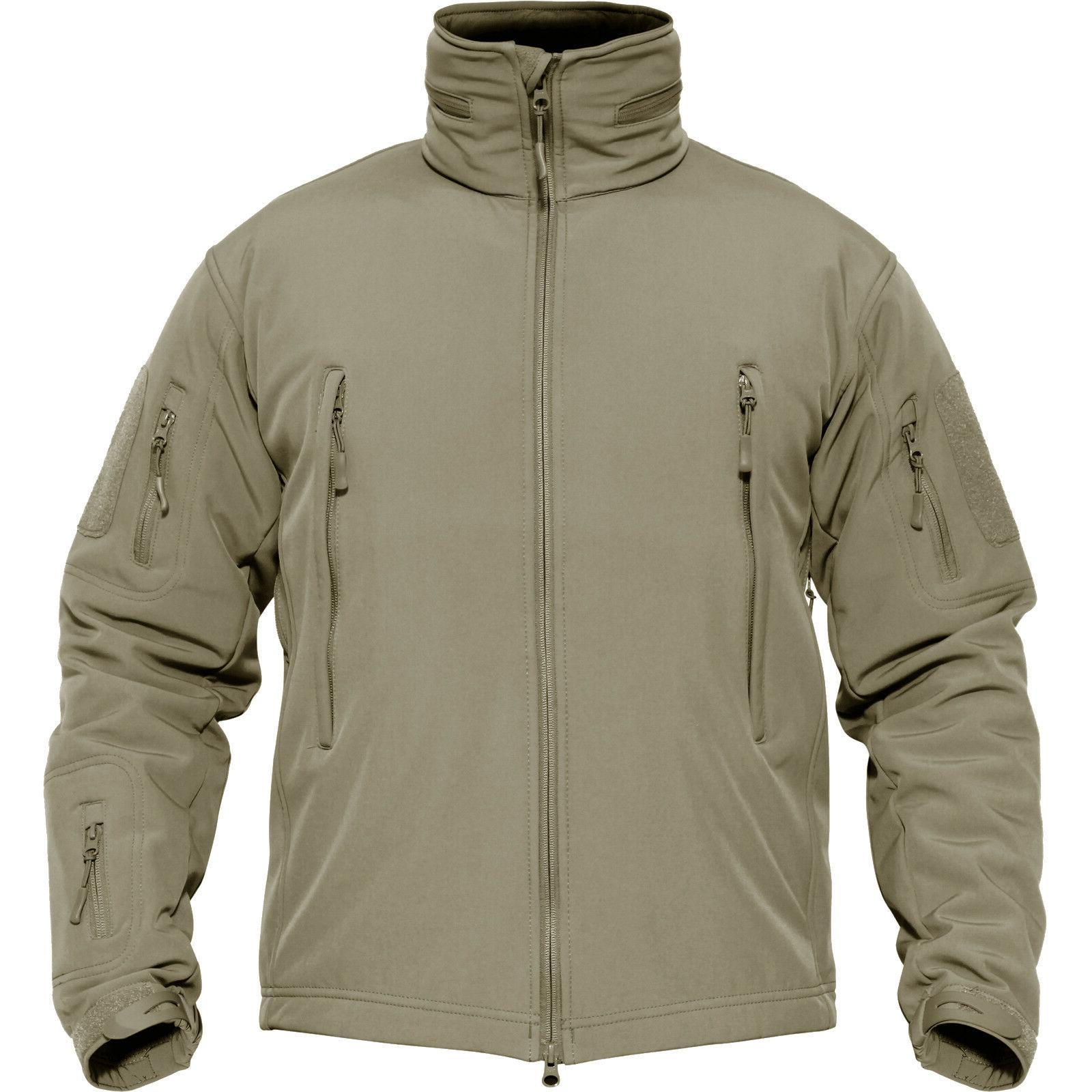 TACVASEN Tactical Jackets Waterproof Soft Outdoor