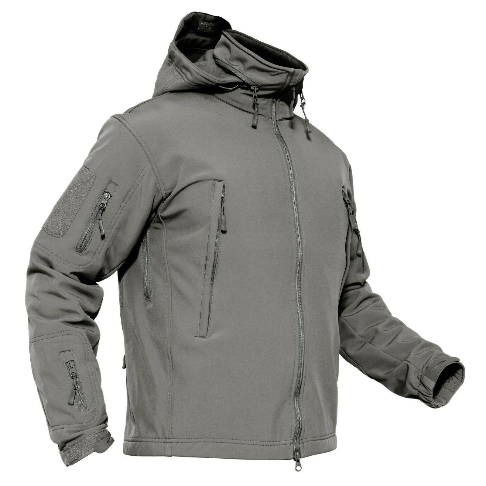 TACVASEN Tactical Windproof Jackets Waterproof Soft Outdoor