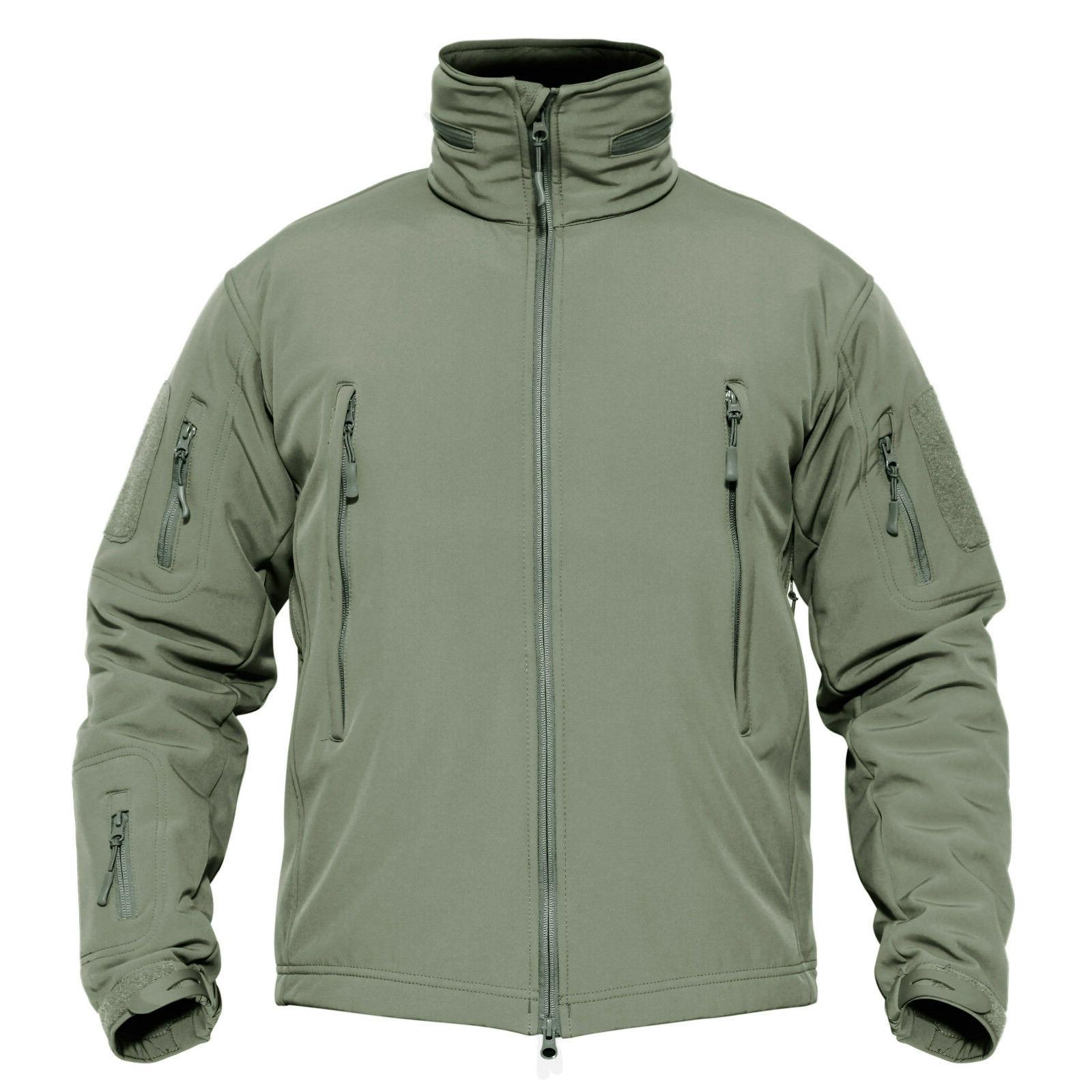 TACVASEN Tactical Jackets Waterproof Outdoor