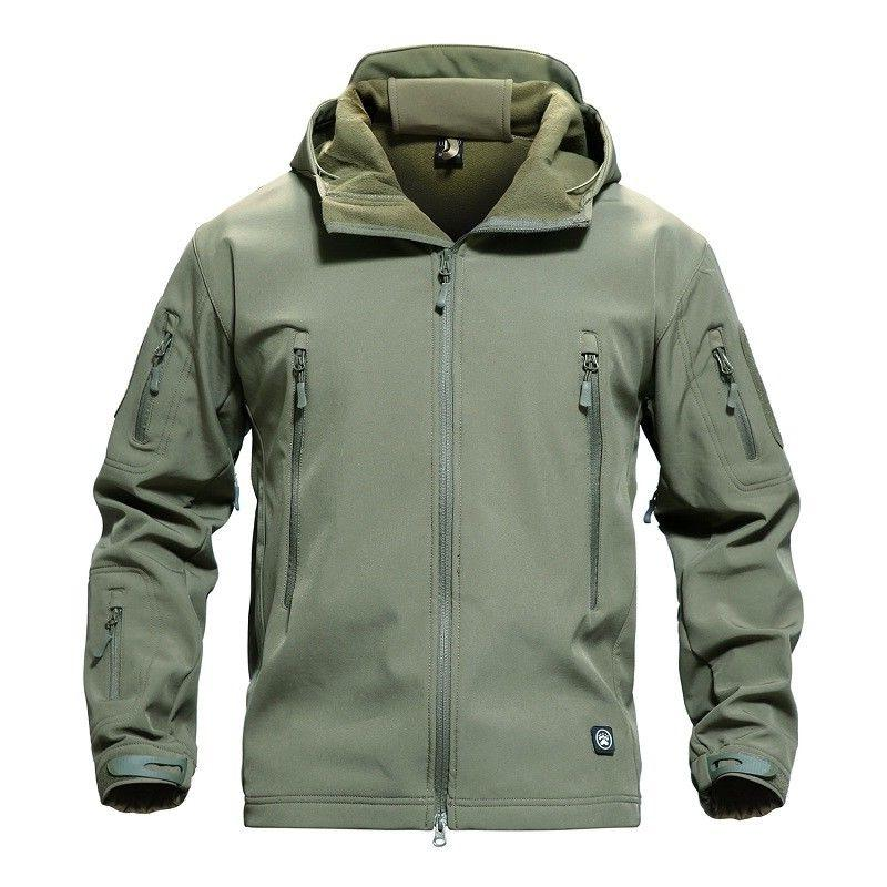 TACVASEN Tactical Soft Shell Men Jacket Army Windbreaker Outdoor