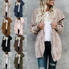 US HOT Women's Long Oversized Loose Knitted Sweater Cardigan