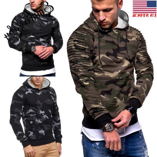 USA Men's Winter Slim Hoodie Warm Hooded Sweatshirt Coat Jac