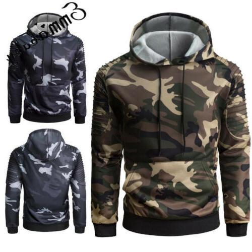 USA Winter Hoodie Warm Hooded Sweatshirt Coat Outwear