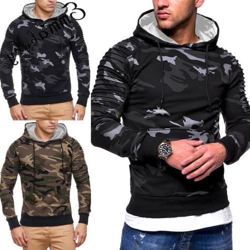 USA Men's Winter Hoodie Sweatshirt Coat