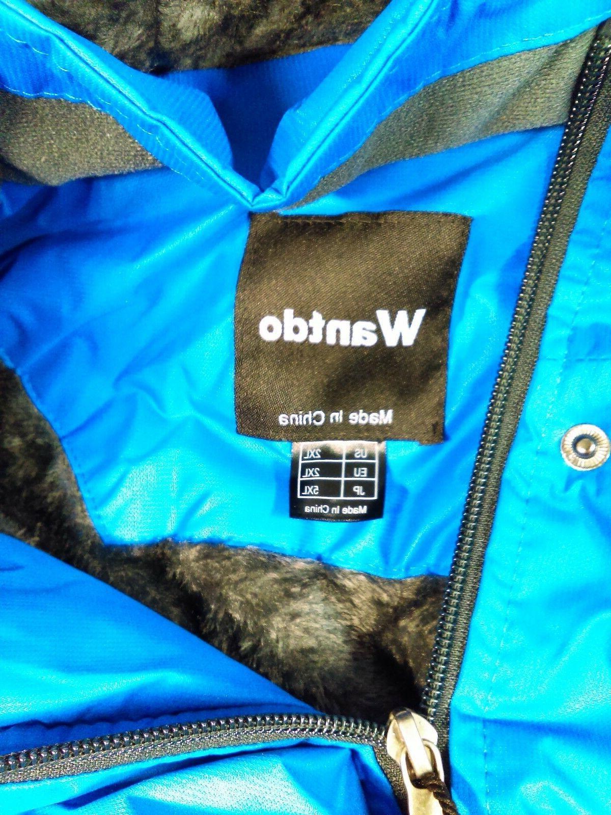 Wantdo Men's Mountain Waterproof Ski Windproof Jacket 2XL Blue