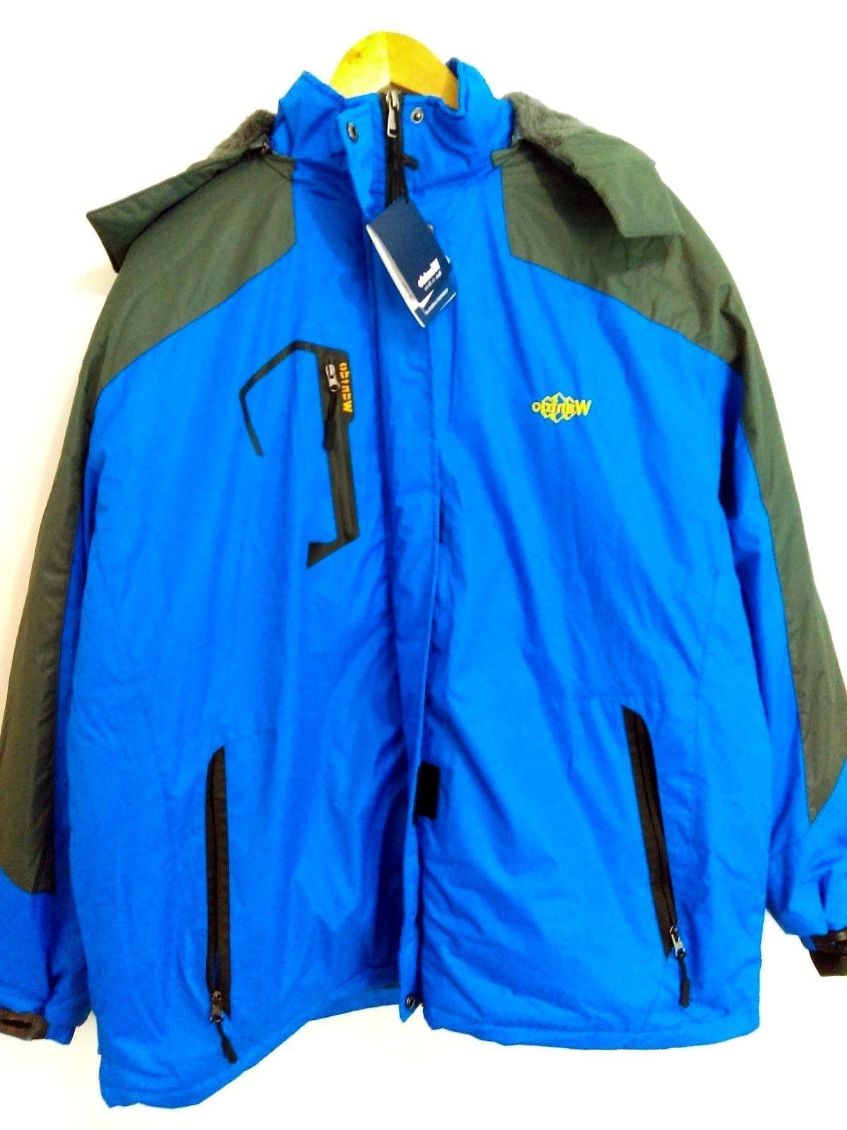 Wantdo Men's Mountain Waterproof Ski Jacket Windproof Rain J