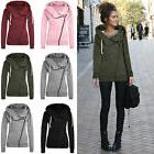 Womens Winter Zipper Hooded Hoodie Jacket Coat Casual Long S