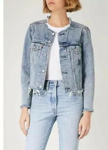 Levis Altered Distressed Women's Denim Jacket Size XS New