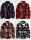 American Eagle AE Men Faux Sherpa Lined Plaid Flannel Shirt