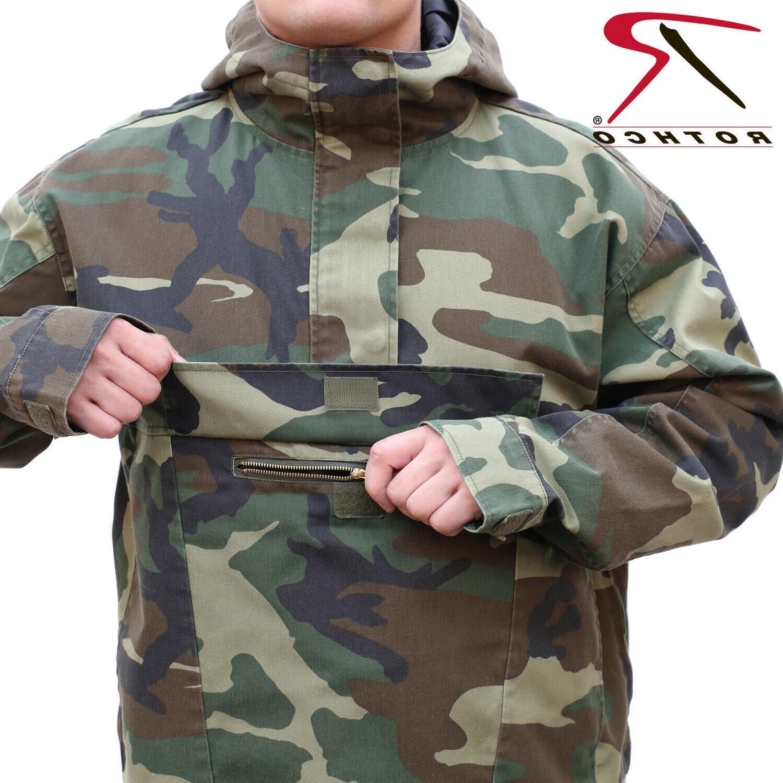 Anorak Parka 1/4 Zip Pull Over Jacket W/Hood 3847 - 3647 - 3