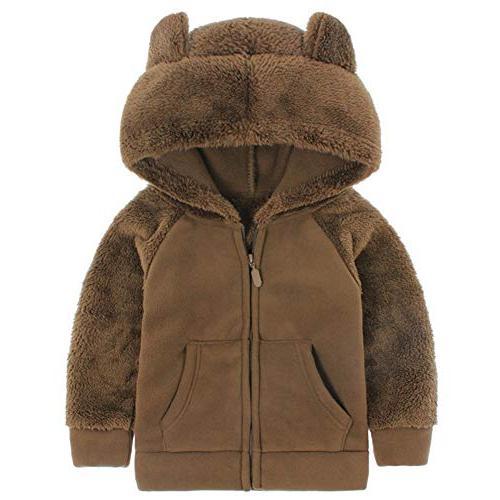 bear ears shape fleece warm