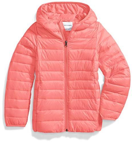 big girls lightweight water resistant packable hooded