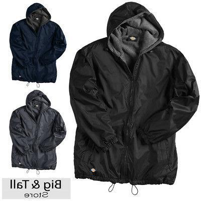 big men s hooded nylon zip jacket