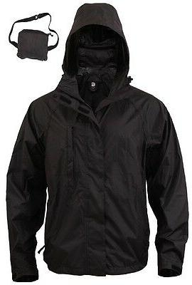Black Tactical Packable Rain Rothco 3754